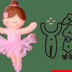 Molde de Bailarina Para E.V.A. Feltro e Artesanato – 3