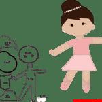 Molde de Bailarina Para E.V.A. Feltro e Artesanato – 4