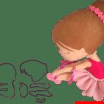 Molde de Bailarina Para E.V.A. Feltro e Artesanato – 5