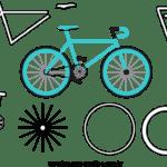 Molde de Bicicleta para Feltro – EVA e Artesanato