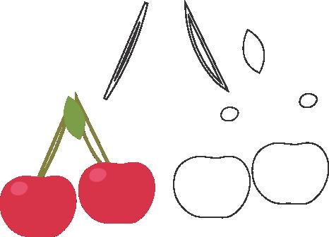 Molde de Cereja para EVA - Feltro e Artesanatos1