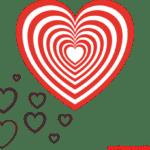 Molde de Coração Para E.V.A. Feltro e Artesanato – 1