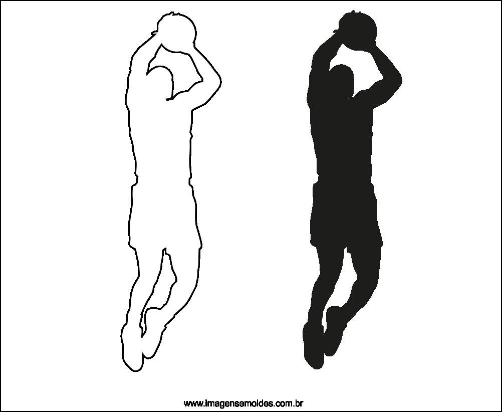 Molde de Jogador de Basquete para EVA Feltro e Artesanato