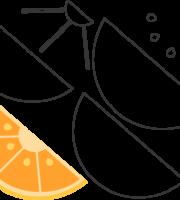 Molde de Laranja para EVA - Feltro e Artesanatos1.1