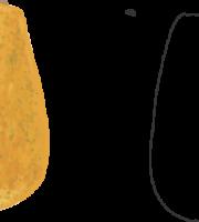Molde de Mamão Papaya para EVA - Feltro e Artesanatos1