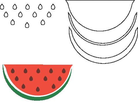 Molde de Melancia para EVA - Feltro e Artesanatos 1.1