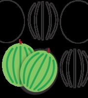 Molde de Melancia para EVA - Feltro e Artesanatos