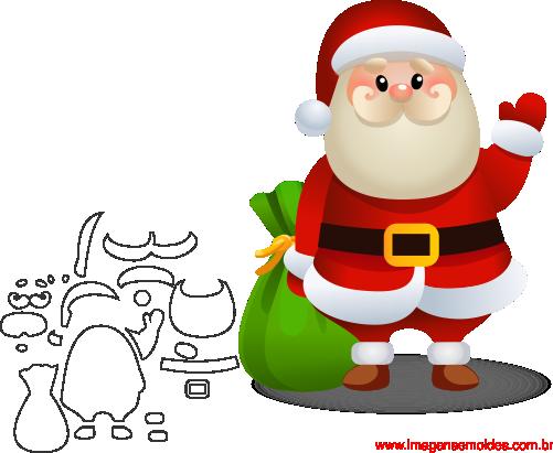 Aparador Imaginus Tabaco ~ Molde de Natal Para E V A Feltro e Artesanato 1