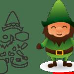 Molde de Natal Para E.V.A. Feltro e Artesanato – 33
