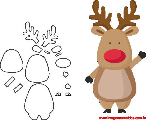 Artesanato Feltro Natal Moldes ~ Molde de Natal Para E V A Feltro e Artesanato 4