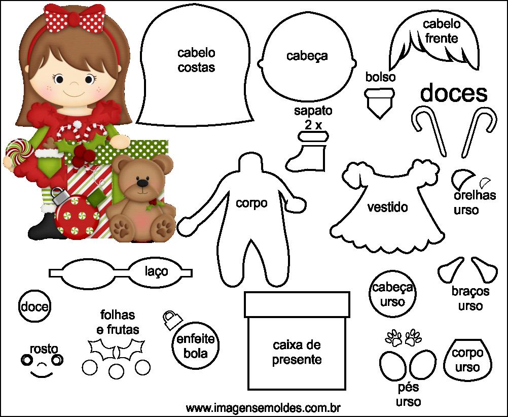 Extremamente Molde de Natal para Feltro - EVA e Artesanato 43 TZ45