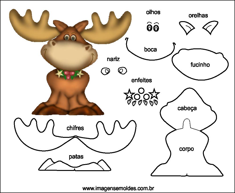 Molde de Natal para EVA Feltro e Artesanato 46