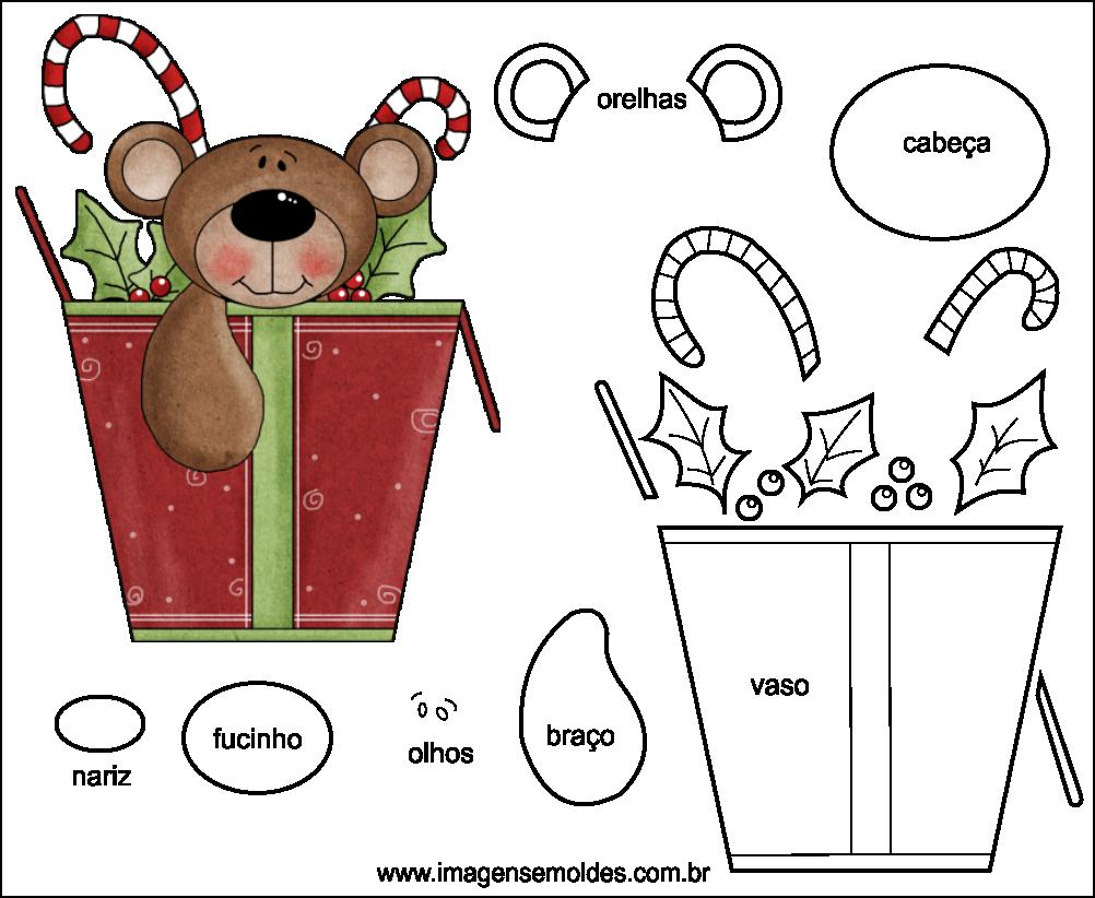 Molde de Natal para EVA Feltro e Artesanato 47