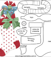 Molde de Natal para EVA Feltro e Artesanato 48