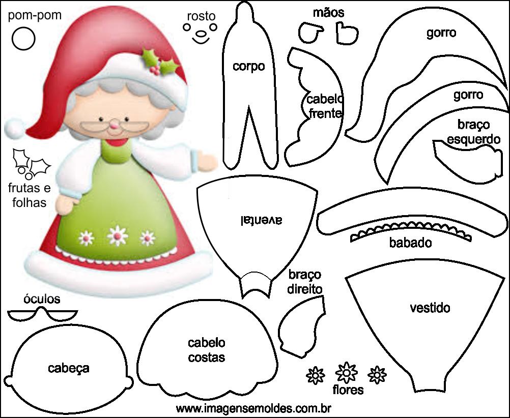 Aparador Imaginus Tabaco ~ Molde de Natal para Feltro EVA e Artesanato 49