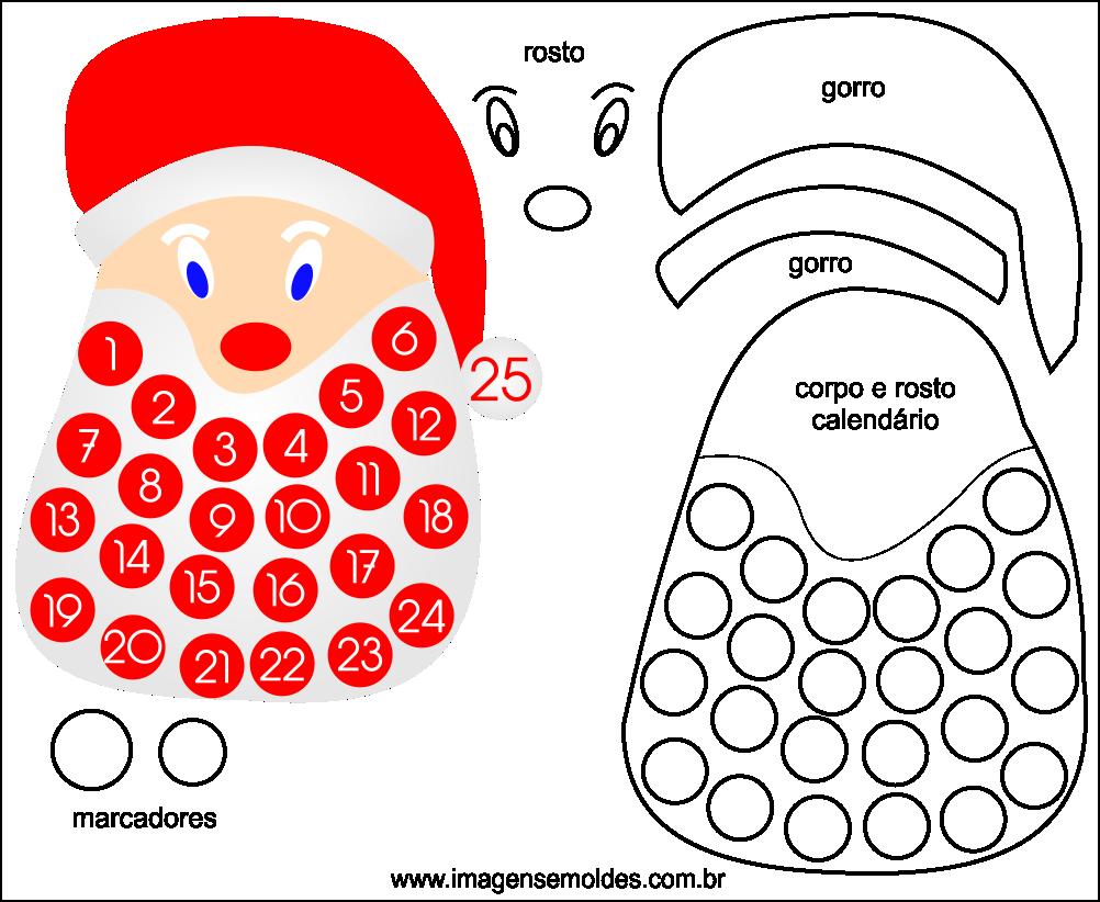 Molde de Natal para EVA Feltro e Artesanato 50