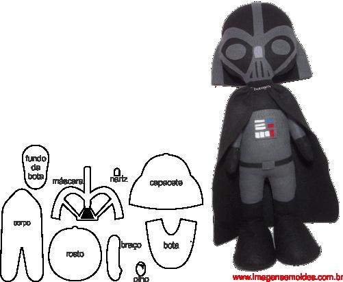 Molde de Star Wars para E.V.A. Feltro e Artesanato – DARTH VADER