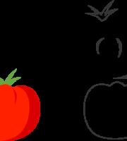 Molde de Tomate para EVA - Feltro e Artesanatos1