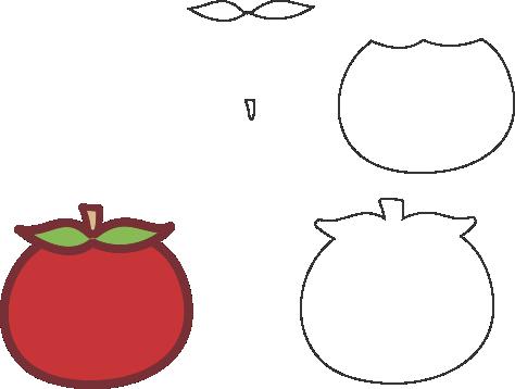 Molde de Tomate para EVA - Feltro e Artesanatos1.1