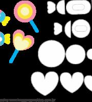 Molde de Unicórnio Elementos 3 para EVA - Feltro e Artesanato