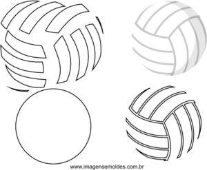 Molde de bola de Volei para Feltro - EVA e Artesanato - 0a1803fbfe136