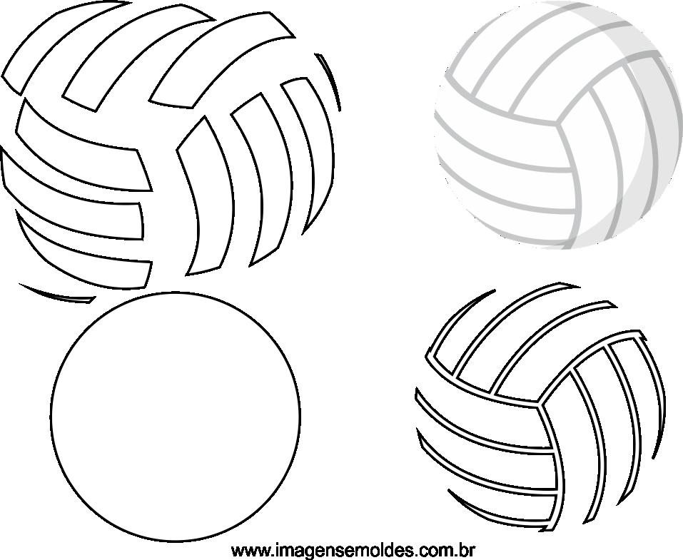 Molde de bola de Volei para Feltro - EVA e Artesanato 6937899c08e60