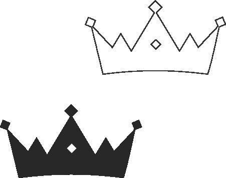 Molde de coroa para EVA - Feltro e Artesanatos12