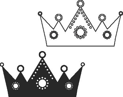 Molde de coroa para EVA - Feltro e Artesanatos17