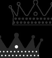 Molde de coroa para EVA - Feltro e Artesanatos3