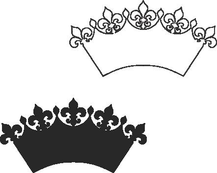 Molde de coroa para EVA - Feltro e Artesanatos4