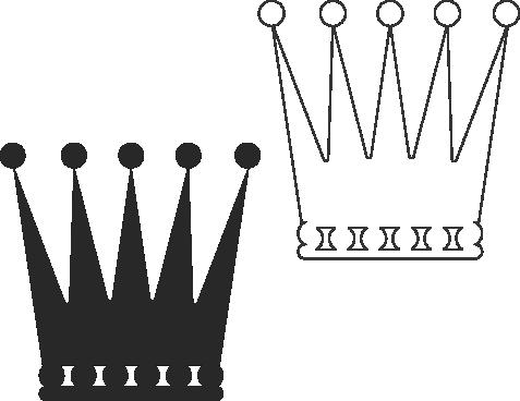 Molde de coroa para EVA - Feltro e Artesanatos8