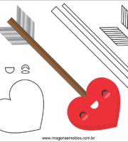 Molde do Dia dos Namorados para EVA Feltro e Artesanato 10
