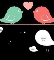 Molde do Dia dos Namorados para EVA Feltro e Artesanato 2