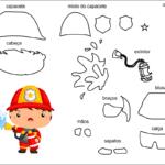 Molde de bombeiro para feltro-eva e artesanatos 1