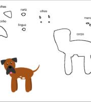 molde cão bayard da Alice no paísa das maravailhas para eva-feltro e artesanatos