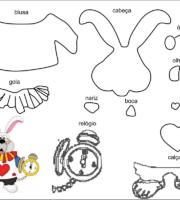 molde personagem coelho pra feva-feltro e artesantos