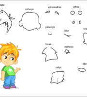 molde de criança menino para eva-feltro e artesanatos 1