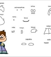 molde de criança menino para eva-feltro e artesanatos 5