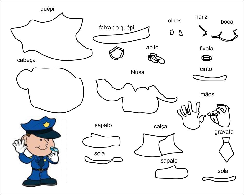 molde policia para eva-feltro e artesanatos 2