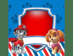 Kit digital Patrulha Canina - Caixa Acrílica 4cm