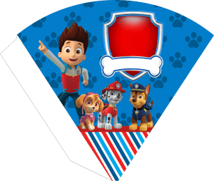 Kit digital Patrulha Canina -Cone Guloseimas