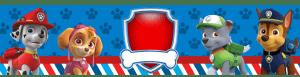 Kit digital Patrulha Canina - Rótulo Água