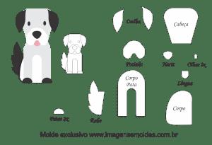 Molde Animais - Cachorro Scrap - Moldes de EVA - Feltro e Artesanato
