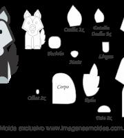 Molde Animais - Lobo Scrap - Moldes de EVA - Feltro e Artesanato