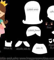 Molde de Boneca - Moldes de EVA - Feltro e Artesanato