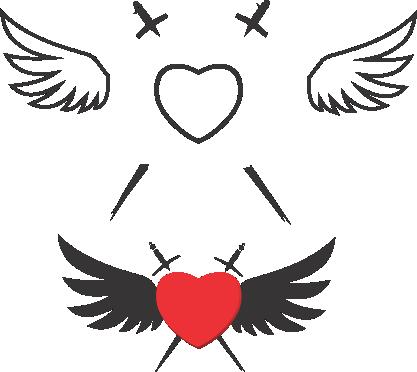 Molde de coração eva - feltro e artesanatos