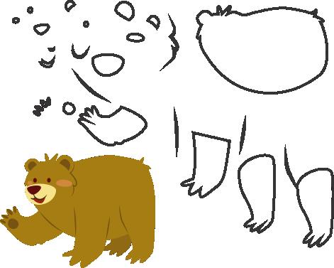 Molde de urcinhos para eva - feltro e artesanatos