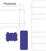 Porta bis duplo com pedestal - Molde de Caixa para Corte