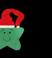 Molde de Natal para E.V.A Feltro e Artesanato - Estrela 01