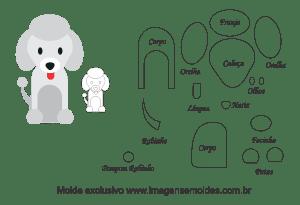 Molde Animais - Cachorro Scrap 2 - Moldes de EVA - Feltro e Artesanato